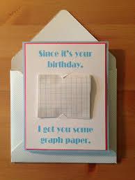 Math Birthday Card Graph Paper Birthday Card Maths