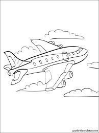 Vliegtuig Kleurplaten Gratis Kleurplaten