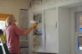 spray paint kitchen cabinetsQuartz Countertops Spray Painting Kitchen Cabinets Lighting