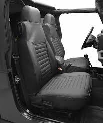 bestop bestop high back seat covers for 97 06 jeep wrangler tj pair