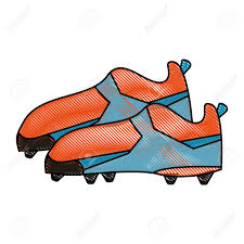 Design Soccer Cleats Cleats Football Soccer Shoes Icon Image Vector Illustration Design
