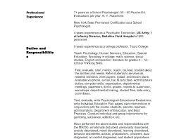 Sample Psychology Resume Psychology Resume Samples Afalina