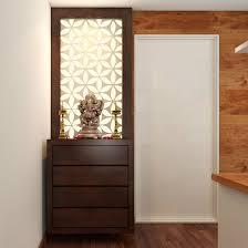 Pooja Room In Living Room Designs Simple Pooja Corner With Sleek Functional Drawers Pooja