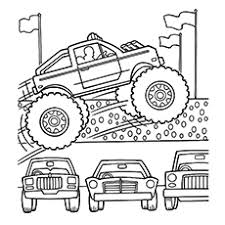 Small Picture 10 Wonderful Monster Truck Coloring Pages For Toddlers