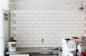 Small Picture Subway Tile Wall in the Kitchen