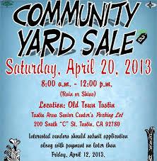 Community Yard Sale Flyer Template Community Yard Flyer Template How