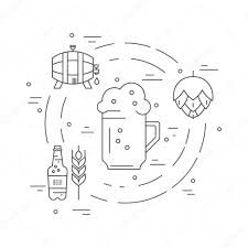 Different Beer And Brewery Symbols Stockvector Favetelinguis199