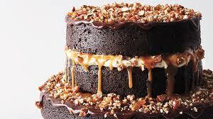 Chocolate Stout Cake with Caramel Buttercream Salted Caramel
