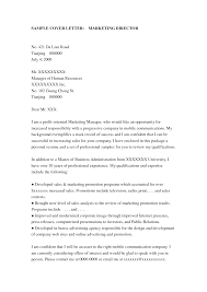 Marketing Manager Resume Cover Letter Sample Marketing Manager
