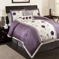 Purple Comforter Sets - Purple Bedroom Ideas & Picture. This purple, grey and white floral motif comforter set ... Adamdwight.com