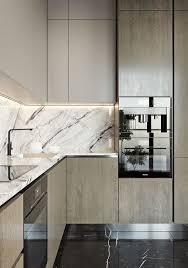 modern kitchen marble backsplash. Wonderful Modern An Elegant Modern Twotoned Kitchen With A Black And White Marble Backsplash  Countertop And Modern Kitchen Marble Backsplash I
