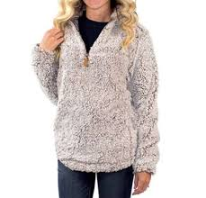 Simply Southern Sherpa Size Chart Simply Southern Womens 3 4 Zip Fluffy Sherpa Pullover