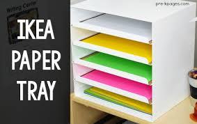ikea kvissle paper tray classroom