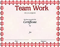 Teamwork Certificate Templates Award Certificate Templates