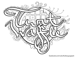 Twat Waffle Coloring Page By Colorful