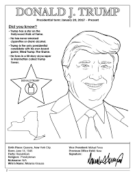 book president donald j trump coloring page
