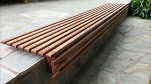 picture of outdoor wooden slat bench seat