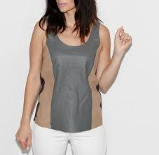 details about michael stars suede leather tank top size s 228