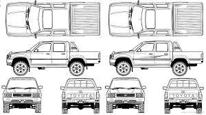 The-Blueprints.com - Vector Requests - Toyota Hilux Pickup Double ...