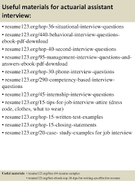 Actuary Resume Top 100 actuarial assistant resume samples 64