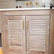 Louvered Bathroom Vanity Design Ideas