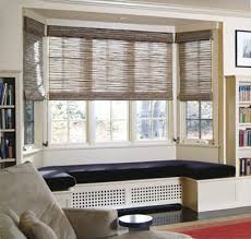 window shades for bay windows. Plain Shades Conradwovenromanshadesbaywindow Intended Window Shades For Bay Windows O