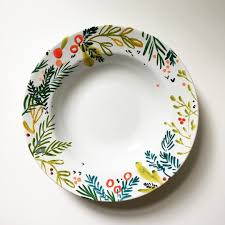Floral Plate Design Kellyventuradesign Holiday Is In Full Swing Over Here In