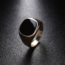 Minimalist Design Rings Us 1 0 24 Off 1pc Size 8 12 Vintage Solid Polished Jewelry Classic Fashion Minimalist Design Silver Golden Color Black Finger Ring Nice Gift In