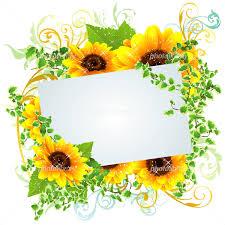 夏らしい向日葵の綺麗なフレーム イラスト素材 4523912 フォト