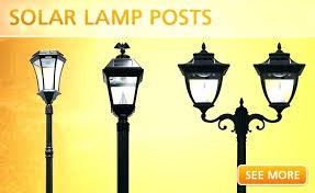 solar garden lamp post light fence lights best outdoor lighting good looking