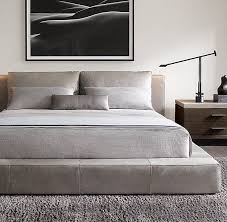 RH Modern's Cloud Platform Leather Bed:A nod to the relaxed ...