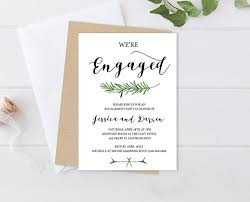 Engagement Invite Templates Greenery Engagement Party Invitation Templ On Free Engagement 3