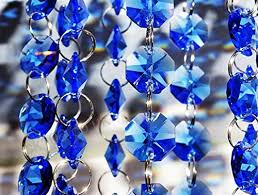 100 pieces of octagon transpa chandelier drops choice of colours light parts cut glass crystals droplets