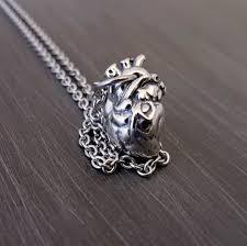 heart anatomical human heart necklace