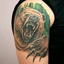 Tattoo Uploaded By вадим татуировка на плече медведь тату