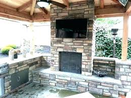 outdoor fireplace and pizza oven combo plans combination ou
