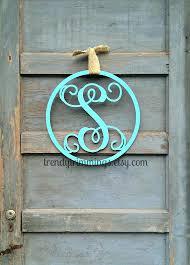 wooden monogram letters wooden monogram letter with circle border interlocking script initial door hanger wreath for