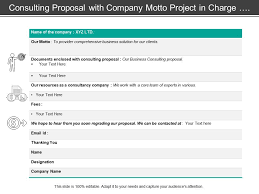 Consulting Proposal With Company Motto Project In Charge