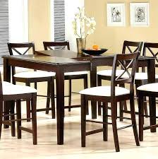 high kitchen table sets high dining set cappuccino finish counter height dining room set high dining