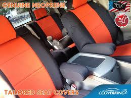 coverking neoprene front orange seat
