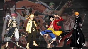 673558 Title Ft, Nauto, Op, Bleach Anime Crossover - Naruto Bleach One  Piece Fairy Tail - 1920x1080 - Download