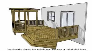 freestanding deck trend plans for building a deck watch fancy plans for building a deck