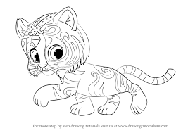 Tiger Nahal From Shimmer And Shine Coloring Get Coloring Pages