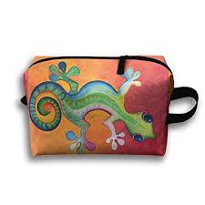 Sgmc My Chart Amazon Com Storage Bag Travel Pouch Oil Painting Gecko