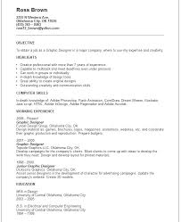 Web Designer Resume Objective Graphic Design Resume Sample Entry ...