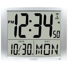 atomic digital wall clock la technology atomic extra large digital wall clock with 7 inch time