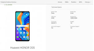 Google Phone Listing Honor 20s Appears In Google Play Console Listing Gsmarena