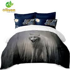 wolf sheep bedding set animal print duvet cover bed sheets flat sheet pillow case home decor soft bedclothes bed cover d20 full bedding set youth bedding