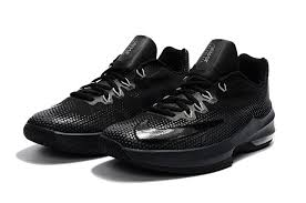 nike basketball shoes 2018. new arrival 2017 2018 nike air max infuriate low basketball shoes blackout triple black all e