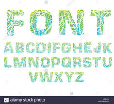 Designs Of Letters Ofthe Alphabet Abstract Art Font Colorful Letter Of The Alphabet Vector